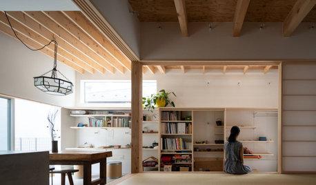 実家の山の椿を床柱に。茶室のある暮らしが日常になじむ家