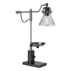 Lab Lamp W/Metal Base, Brushed Nickel, Steel