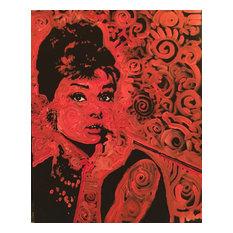 Audrey Hepburn Breakfast at Tiffany's Holly Golightly Red Pop Art Painting