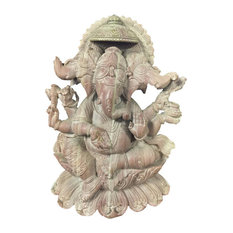 "Mogulinterior - Lord Ganesha Stone Statue Sculpture 8"" Decor Art - Decorative Objects And Figurines"