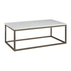 Superb 1st Avenue   Lena Coffee Table, White Marble Top   Coffee Tables