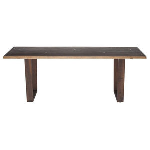 Jocelin dining table seared oak top seared oak legs 94""