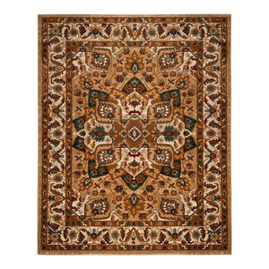 Traditional Tribal Hex Area Rug Rust 4 X6