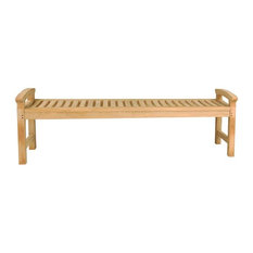 """67"""" Avalon Backless Bench With Arms"""