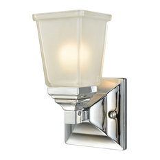 Thomas Lighting Sinclair 1 Light Bath In Polished Chrome With Frosted Glass