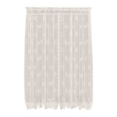 Saturday Knight Butterfly Lace Panel in Ivory, 56X84