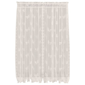 Saturday Knight Butterfly Lace Panel in Ivory, 56X63