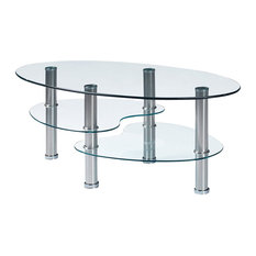 Oval Glass Top Coffee Tables