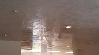 private residence. venetian plaster ceiling
