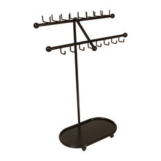 Designers Impressions JR21 Free Standing Jewelry Organizer, Oil Rubbed Bronze