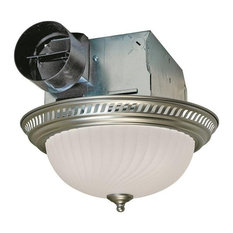Air King Round Bath Fan With Light 70 Cfm Nickel