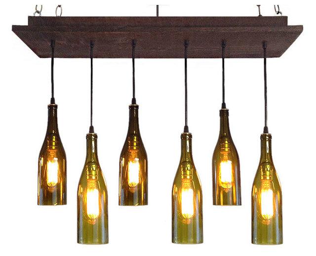 Rustic wine bottle chandelier industrial chandeliers by rustic wine bottle chandelier mozeypictures Image collections