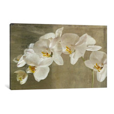 """""""Painted Orchid"""" Wrapped Canvas Art Print, 26x18x0.75"""