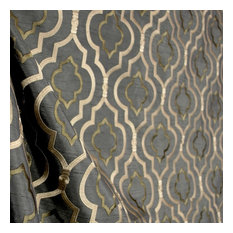 Traditional Drapery Fabric Houzz - Black and gold stripe drapery fabric