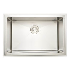27 in. Laundry Sink for Deck Mount Faucet in Chrome