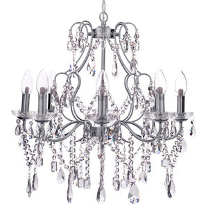 Marquis by Waterford, Annalee 8 Light Bathroom Chandelier, Chrome