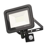 Langton Outdoor LED Slimline Flood Light With PIR Sensor, Black, 20 W