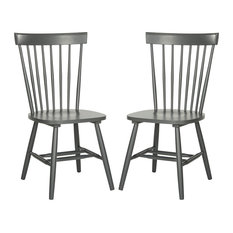 Safavieh Parker Spindle Dining Chairs, Set of 2, Charcoal Gray
