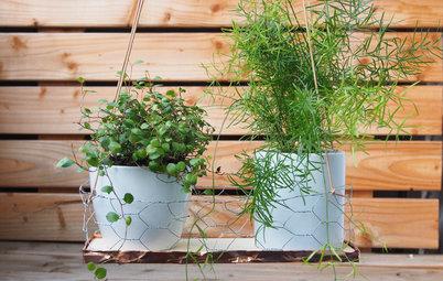DIY: Eine schnelle Blumenschaukel für drinnen und draußen