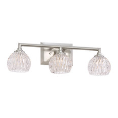 Luxury Marquis Crystal Nickel Bathroom Light, UQL2621, Naples Collection