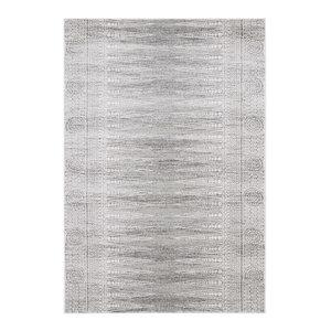 Nova Rectangular Rug, Grey and White, 160x230 cm