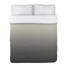 Omgrey -Grey Cream Lightweight Full Queen Duvet Cover