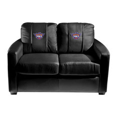 Phoenix Suns NBA Silver Love Seat With Secondary Logo Panel