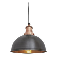 Most popular industrial pendant lighting for 2018 houzz uk industville brooklyn vintage small dome pendant light pendant lighting mozeypictures Image collections