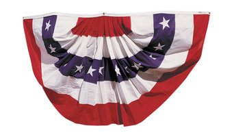 Annin Flagmakers 3'x6' Pleated Fan Bunting Decoration With Stars Flag, Large