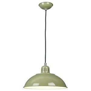 Spun Shade Ceiling Pendant, Green