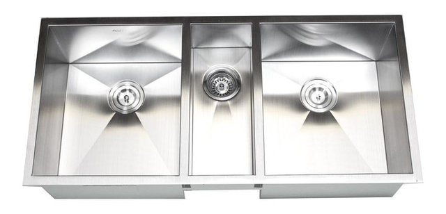 Triple Bowl Kitchen Sinks 42 stainless steel undermount zero radius triple bowl kitchen sink 42 stainless steel undermount zero radius triple bowl kitchen sink workwithnaturefo