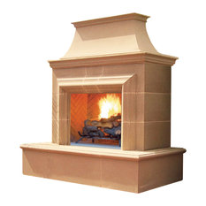 Reduced Cordova Outdoor Fireplace, Propane Vented