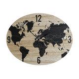 Large Rustic Oval Atlas Wall Clock