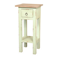 sunset trading sunset trading cottage narrow side table pastel green side tables and