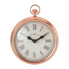 EMDE Rose Copper Fob Wall Clock