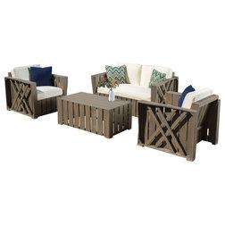 Elegant Contemporary Outdoor Sofas by GDFStudio