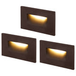 """LEONLITE - Leonlite Calor 4.72"""" 1 LED Step Light, Warm White, Pack of 3, Oil Rubbed Bronze - If you have ever been troubled by traversing dark hallways and staircases at night or are just considering adding some decorative lighting to your staircases, then our newly launched 3.5W 120V dimmable LED step light is the perfect choice for you."""