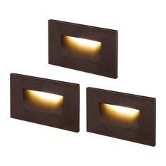 """Leonlite Calor 4.72"""" 1 LED Step Light, Warm White, Pack of 3, Oil Rubbed Bronze"""