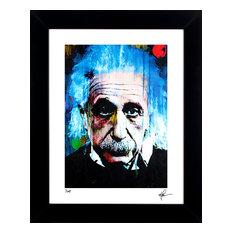 """Albert Einstein """"Questioning Tomorrow"""" Art by Mark Lewis"""