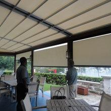 Monza PLUS model retractable pergola patio and deck cover system