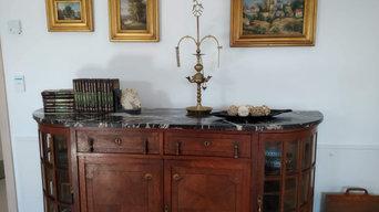 Decoración completa de RESID. DE ANCIANOS RAIOLA O HORREO con mueble restaurado