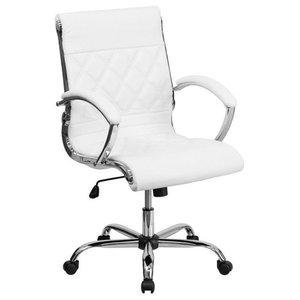 Scranton & Co Mid Back Designer Office Chair in White