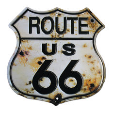 Route 66 Highway Shield, Bullet Holes