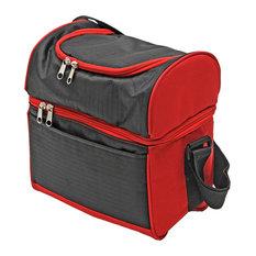 Hot & Cold Cooler Bag, Black & Red