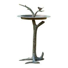 Bird and Twig Birdbath Sundial