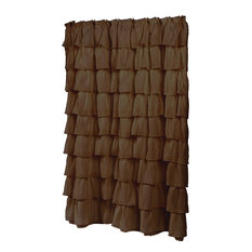 """""""Carmen"""" Polyester Shower Curtain in Brown"""