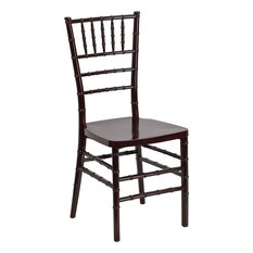 Flash Furniture Elegance Resin Stacking Chiavari Chair Mahogany Dining Chairs