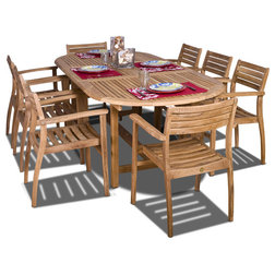 Nice Contemporary Outdoor Dining Sets by International Home Miami Corp