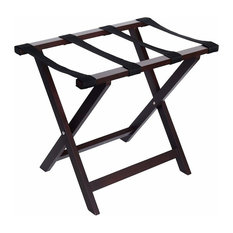 Welland Wood Folding Luggage Rack, Espresso