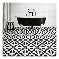 Aztec Tile Stencil - DIY Geometric Tile Stencils - Faux Cement Tiles, Medium